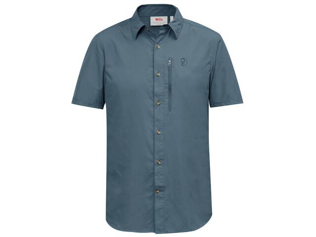 Fjällräven Abisko Hike Camisa Manga Corta Hombre, azul